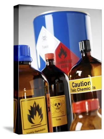 Hazardous Chemicals-Tek Image-Stretched Canvas Print