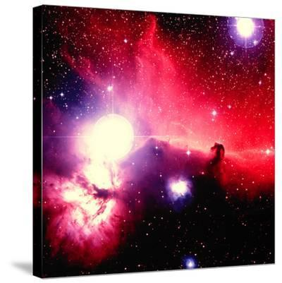 Optical Image of Horsehead Nebula And Sur-Celestial Image-Stretched Canvas Print