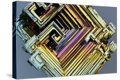 Bismuth Crystal-Lawrence Lawry-Stretched Canvas Print