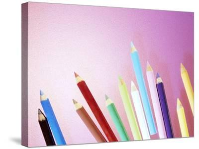 Pencil Crayons-Lawrence Lawry-Stretched Canvas Print