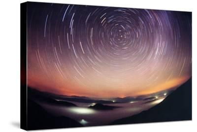 Star Trails-Laurent Laveder-Stretched Canvas Print