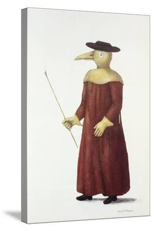 Plague Doctor, 18th Century-Science Photo Library-Stretched Canvas Print
