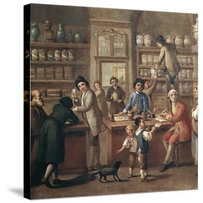 Italian Apothecary, 18th Century-Science Photo Library-Stretched Canvas Print