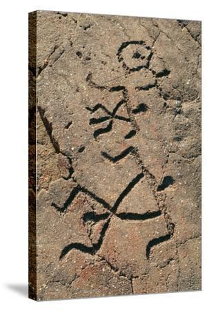 Hawaiian Petroglyph-Brad Lewis-Stretched Canvas Print