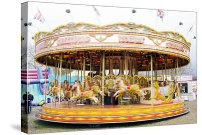 Fairground Carousel-Johnny Greig-Stretched Canvas Print