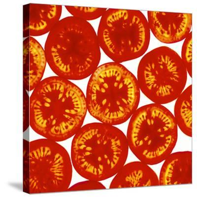 Tomato Slices-Johnny Greig-Stretched Canvas Print