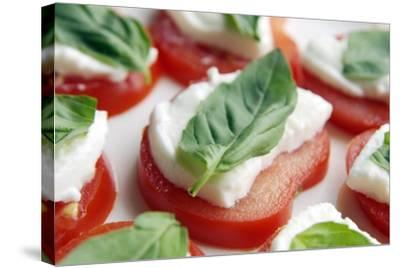 Tomato, Mozzarella And Basil Salad-Johnny Greig-Stretched Canvas Print