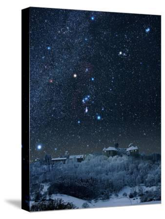Winter Sky with Orion Constellation-Eckhard Slawik-Stretched Canvas Print