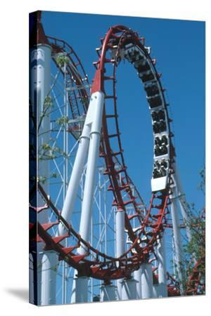 Loop Section of a Rollercoaster Ride-Kaj Svensson-Stretched Canvas Print