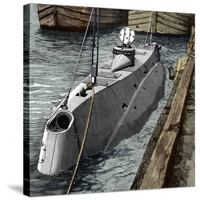 Holland Submarine, New York, 1890s-Sheila Terry-Stretched Canvas Print