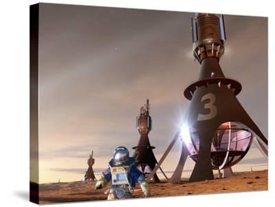 Space Tourism on Mars-Detlev Van Ravenswaay-Stretched Canvas Print