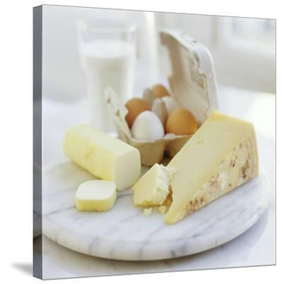 Eggs And Cheese-David Munns-Stretched Canvas Print