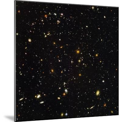 Hubble Ultra Deep Field Galaxies--Mounted Premium Photographic Print