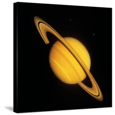 Saturn with Two Moon--Stretched Canvas Print