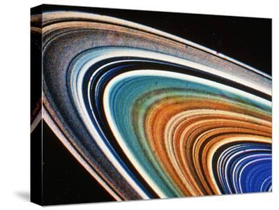 Voyager 2 Photograph of Saturn's Rings--Stretched Canvas Print