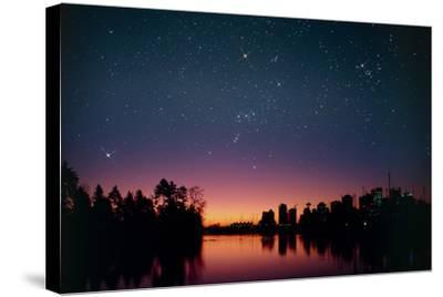 Starry Sky Over Vancouver, Canada-David Nunuk-Stretched Canvas Print