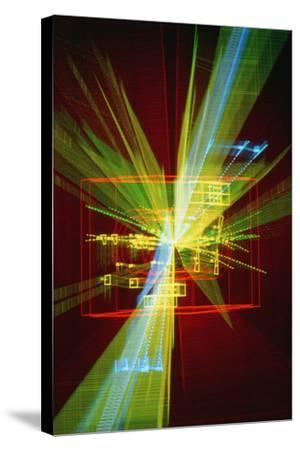 Particle Interaction At CERN-David Parker-Stretched Canvas Print