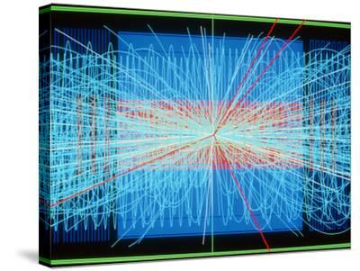 Simulation of Higgs Boson Production-David Parker-Stretched Canvas Print