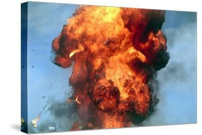 Pillar of Fire Due To Explosion-David Nunuk-Stretched Canvas Print