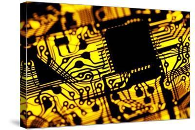 Printed Circuit Board, Artwork-PASIEKA-Stretched Canvas Print