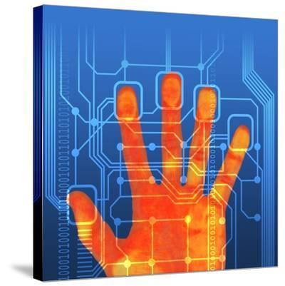 Fingerprint Scanner, Artwork-PASIEKA-Stretched Canvas Print