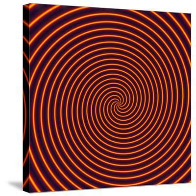 Abstract Computer Artwork of a Spiral-David Parker-Stretched Canvas Print
