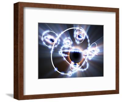 Lithium Atoms, Computer Artwork-PASIEKA-Framed Premium Photographic Print