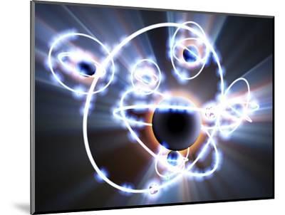 Lithium Atoms, Computer Artwork-PASIEKA-Mounted Premium Photographic Print
