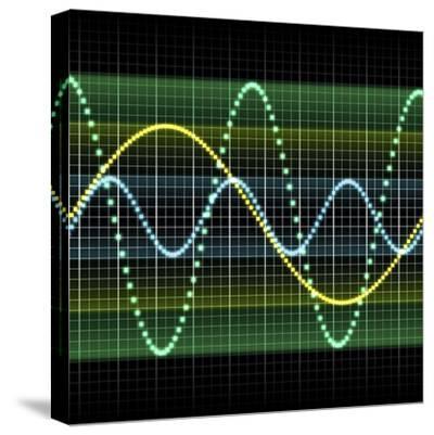Sound Wave, Computer Artwork-PASIEKA-Stretched Canvas Print