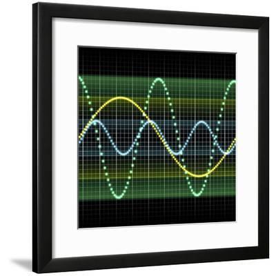 Sound Wave, Computer Artwork-PASIEKA-Framed Premium Photographic Print