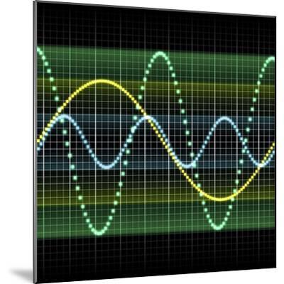 Sound Wave, Computer Artwork-PASIEKA-Mounted Premium Photographic Print