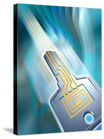 Electronic Data Security-PASIEKA-Stretched Canvas Print