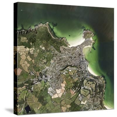 St Ives, Cornwall, UK, Satellite Image-Getmapping Plc-Stretched Canvas Print