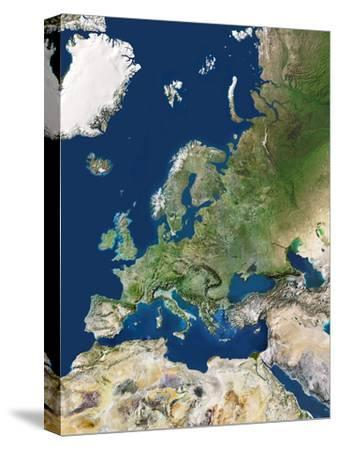 Europe-PLANETOBSERVER-Stretched Canvas Print