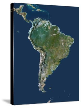 South America-PLANETOBSERVER-Stretched Canvas Print