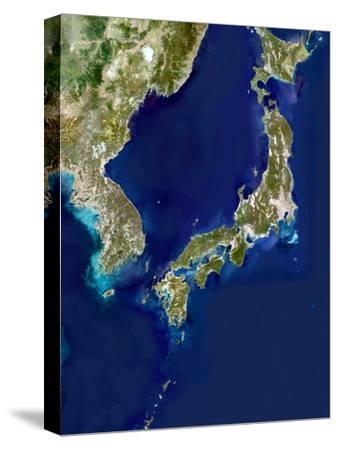 Japan And Korea, Satellite Image-PLANETOBSERVER-Stretched Canvas Print