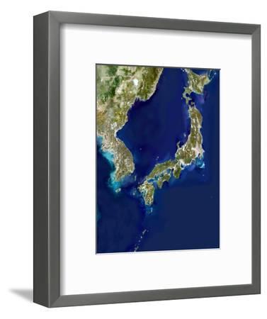Japan And Korea, Satellite Image-PLANETOBSERVER-Framed Premium Photographic Print