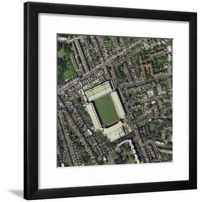 Arsenal's Highbury Stadium, Aerial View-Getmapping Plc-Framed Premium Photographic Print