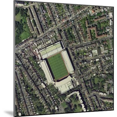 Arsenal's Highbury Stadium, Aerial View-Getmapping Plc-Mounted Premium Photographic Print
