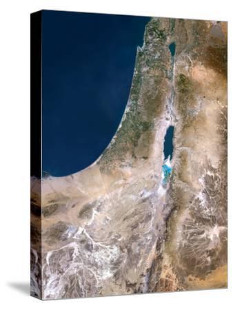 Israel, Satellite Image-PLANETOBSERVER-Stretched Canvas Print