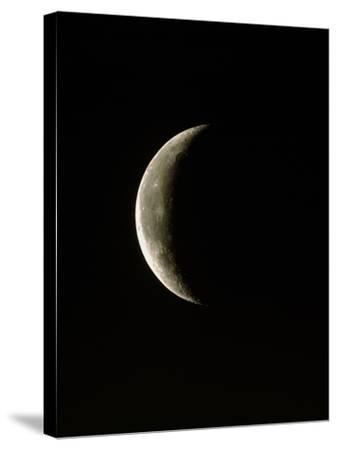 Optical Image of a Waning Crescent Moon-John Sanford-Stretched Canvas Print