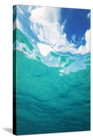Clouds From Underwater-Peter Scoones-Stretched Canvas Print
