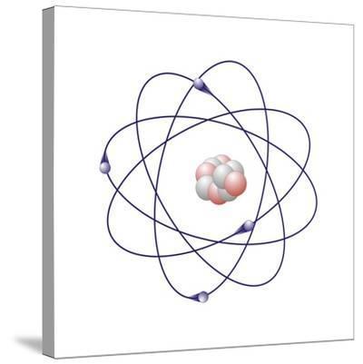 Beryllium, Atomic Model-Friedrich Saurer-Stretched Canvas Print