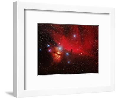 Horsehead And Flame Nebulae-John Sanford-Framed Premium Photographic Print