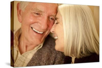 Happy Senior Couple-Science Photo Library-Stretched Canvas Print