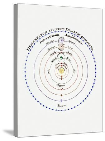 Diagram of Copernican Cosmology-Science Photo Library-Stretched Canvas Print