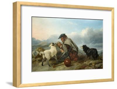 The Sick Lamb, 1853-Richard Ansdell-Framed Giclee Print
