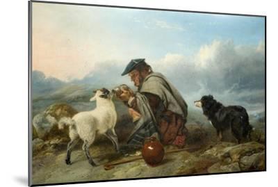 The Sick Lamb, 1853-Richard Ansdell-Mounted Giclee Print