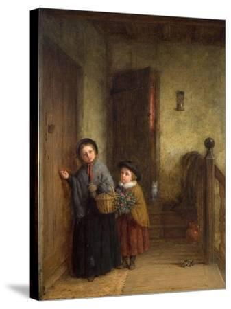 Christmas Visitors, 1869-Frederick Daniel Hardy-Stretched Canvas Print