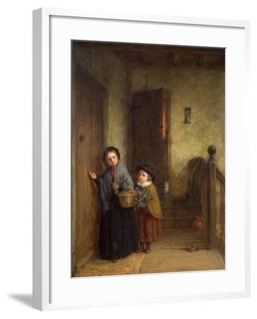 Christmas Visitors, 1869-Frederick Daniel Hardy-Framed Giclee Print
